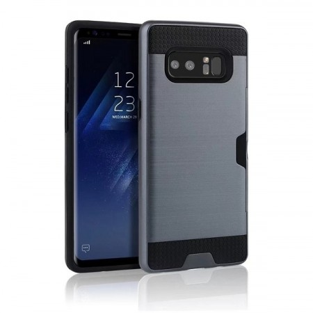 Hybrid TPU + PC Deksel Galaxy Note 8 mørk blå