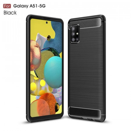 TPU Deksel Carbon for Galaxy A51 5G  svart