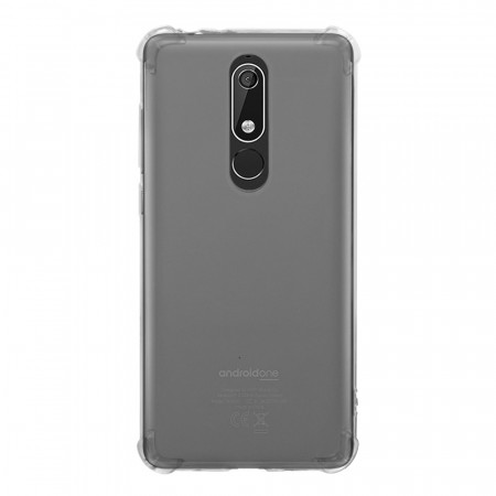 TPU Anti-Scratch Deksel for Nokia 5.1 Plus (2018) gjennomsiktig