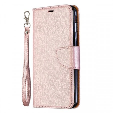 Lommebok deksel for Galaxy J4 Plus (2018) Roségull
