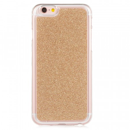 TPU Deksel Bling Glitter iPhone 6/6S - gull