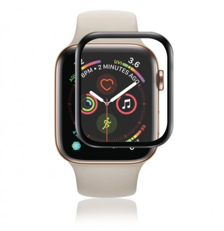 PANZER Apple Watch 4/5 40mm, Curved Silicate Glass svart