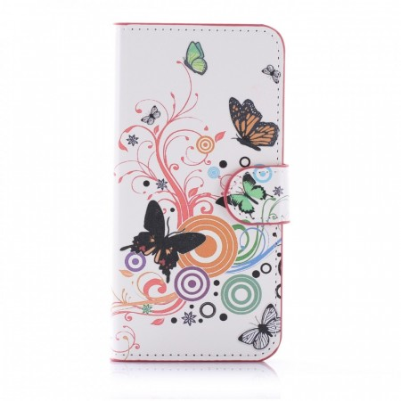 Deksel for Galaxy S7 - Butterfly White