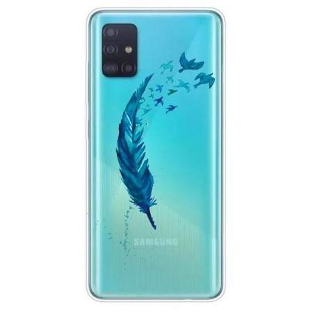 Lux TPU Deksel for Samsung Galaxy A51 5G - Feather