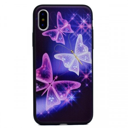 TPU Deksel for iPhone X/XS - Butterfly