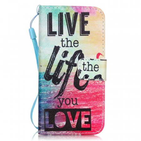 Lommebok deksel for iPhone 7/8/SE (2020) - Live the Life You Love