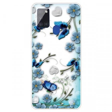 Lux TPU Deksel for Samsung Galaxy A21s - Butterfly
