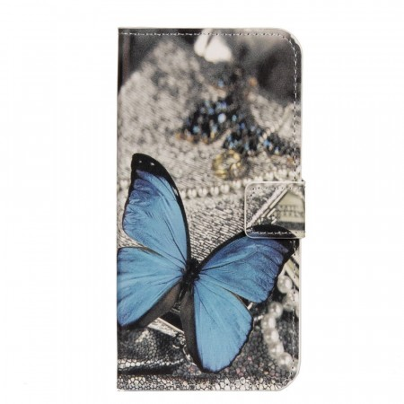Deksel for Sony Xperia XZ2 Compact Blue Butterfly