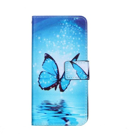 Deksel for iPhone XR - Blue Butterfly