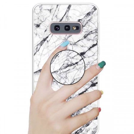 TPU Deksel med holder Galaxy S10e - Marmor