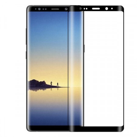 Lux Anti-Scratch herdet Glass skjermbeskytter heldekkende Galaxy Note 8 svart