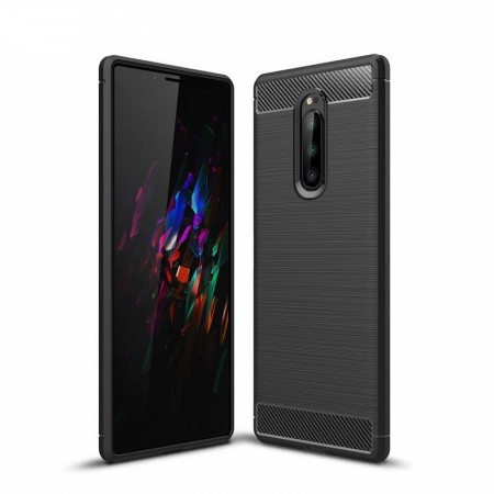 TPU Deksel Carbon for Sony Xperia 1 svart