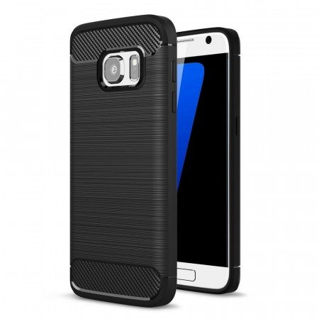 TPU Deksel Carbon for Galaxy S7 svart