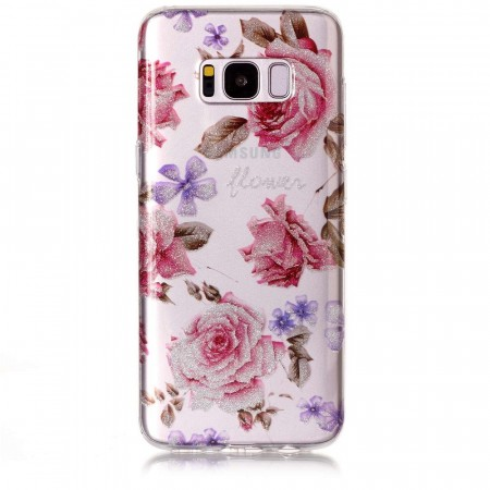TPU Deksel for Samsung Galaxy S8 plus - Blomster