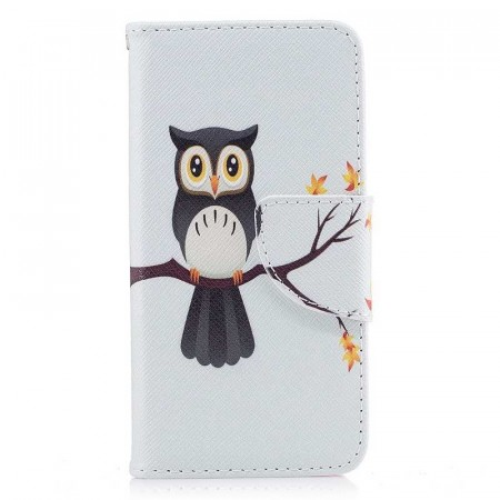 Lommebok deksel for iPhone 5S/5/SE (2016) - Owl