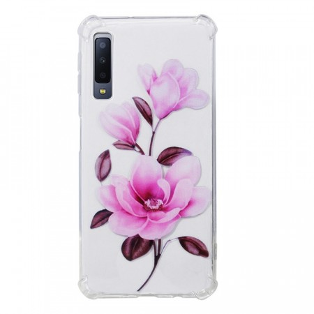 TPU Deksel for Samsung Galaxy A7 (2018) - Blomster