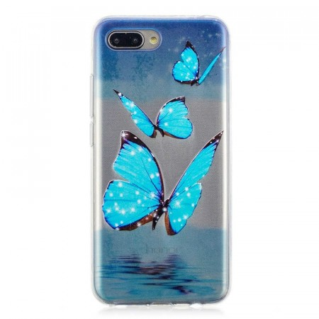 TPU Deksel Huawei Honor 10 - Blue Butterfly