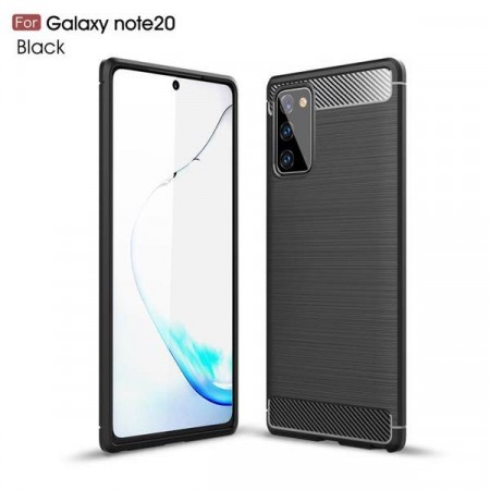 TPU Deksel Carbon for Galaxy Note 20 svart