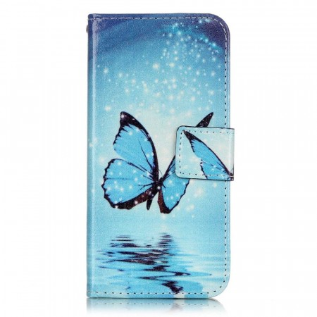 Deksel for iPhone 7/8  - Blue Butterfly