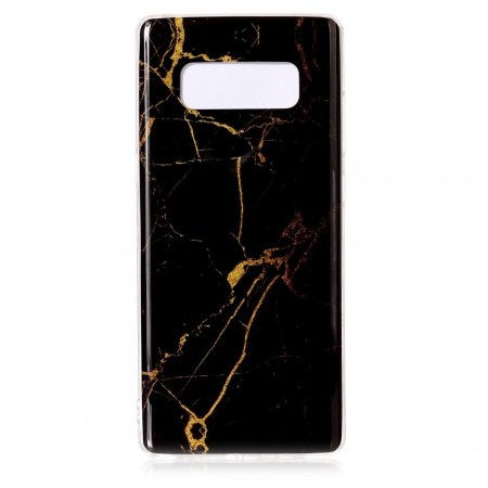 TPU Deksel for Galaxy Note 8 - Marmor svart