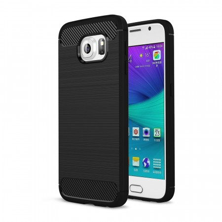 TPU Deksel Carbon for Galaxy S6 svart