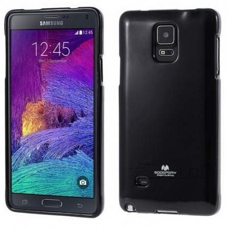 Mercury Goospery TPU Deksel for Galaxy Note 4 svart