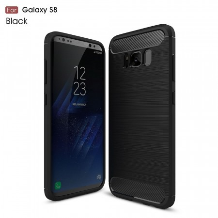 TPU Deksel Carbon for Galaxy S8 svart