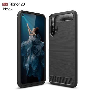 TPU Deksel Carbon Honor 20 svart
