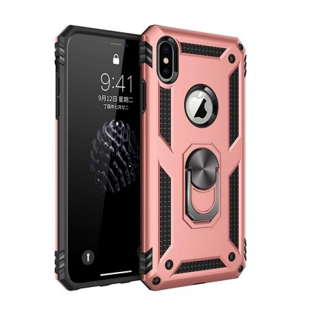 iPhone XS Max Ring Armor Deksel - Rosa