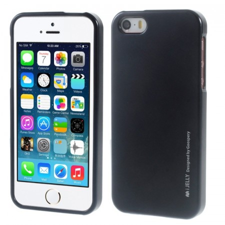 Mercury Goospery TPU Deksel for iPhone 5S/5/SE (2016) svart