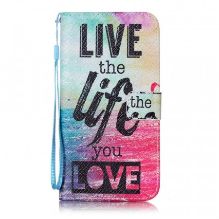 Lommebok deksel for iPhone 7 Plus/8 Plus - Live the Life You Love