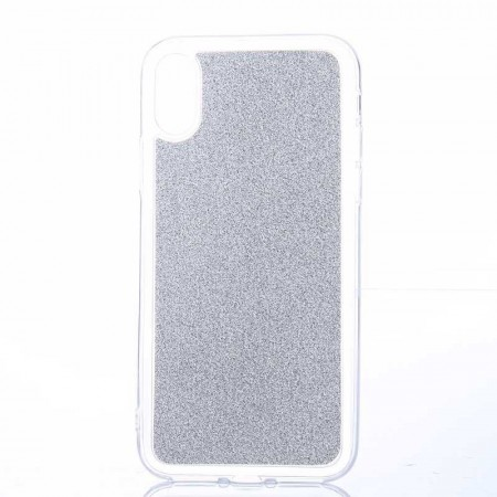 TPU Deksel Crystal Glitter Powder iPhone X/XS sølv