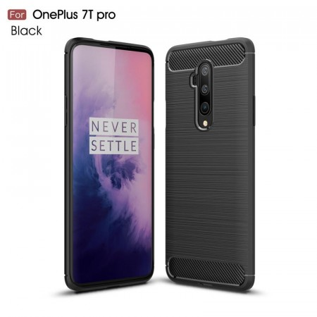 TPU Deksel Carbon for OnePlus 7T Pro svart