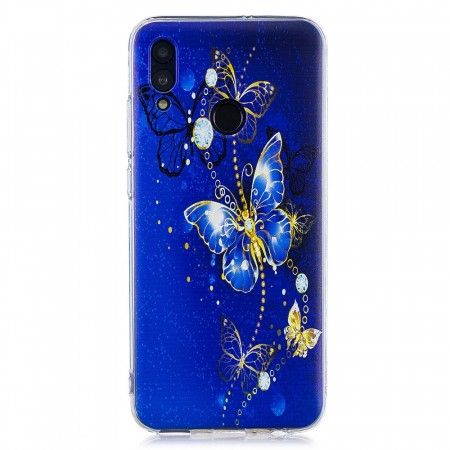 TPU Deksel Huawei P Smart (2019)/Honor 10 Lite - Blue Butterfly