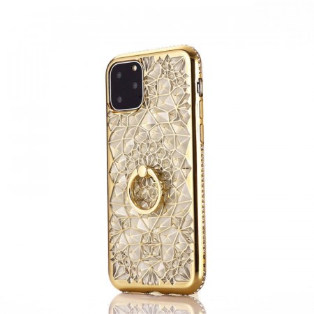 Diamond Flower TPU Deksel for iPhone 11 Pro Max - Gull