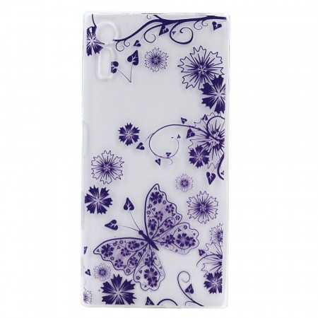 TPU Deksel for Sony Xperia XZ / XZs - Lilla blomster