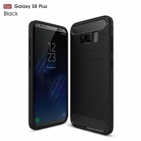 TPU Deksel Carbon for Galaxy S8 plus svart
