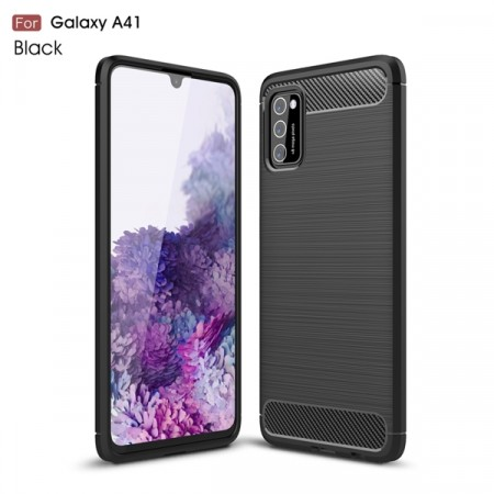 TPU Deksel Carbon for Galaxy A41 svart