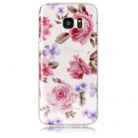 TPU Deksel for Samsung Galaxy S7 Edge - Blomster