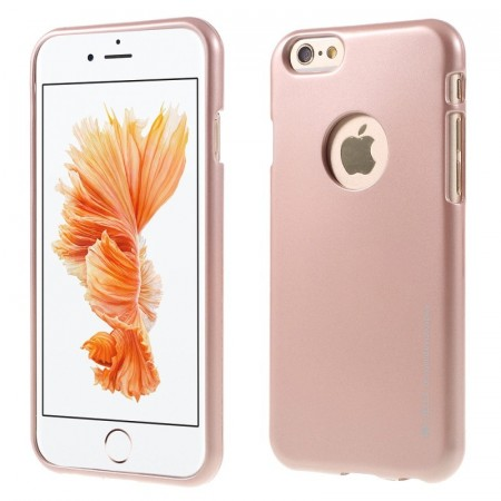 Mercury Goospery TPU Deksel for iPhone 6 Plus / 6S Plus Roségull