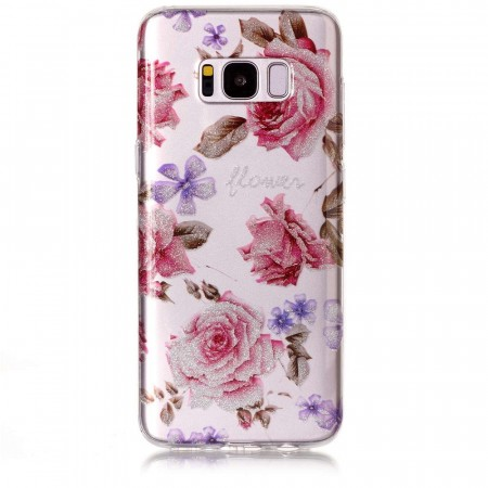 TPU Deksel for Samsung Galaxy S8 - Blomster