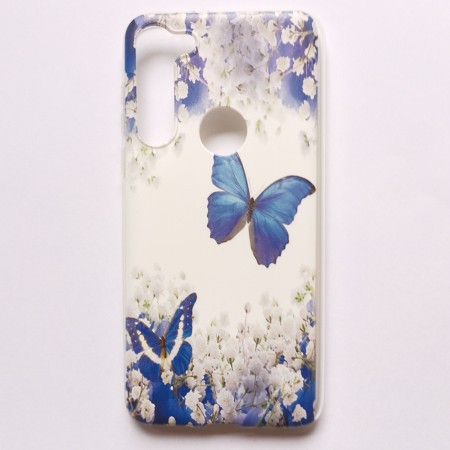 Lux TPU Deksel for Motorola Moto G8 Power - butterfly and flowers