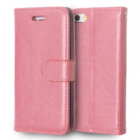 Lommebok deksel for iPhone 5S/5/SE (2016) rosa