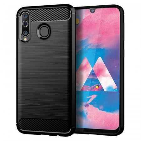 TPU Deksel Carbon for Galaxy A40 svart