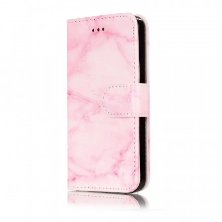 Lommebok deksel for iPhone 5S/5/SE (2016) rosa marmor