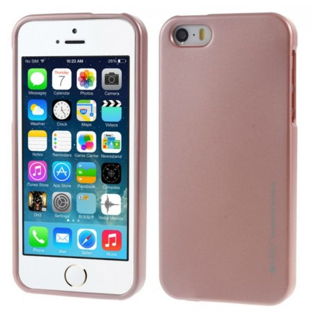 Mercury Goospery TPU Deksel for iPhone 5S/5/SE (2016) Roségull