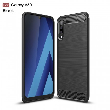 TPU Deksel Carbon for Galaxy A50/A30s svart