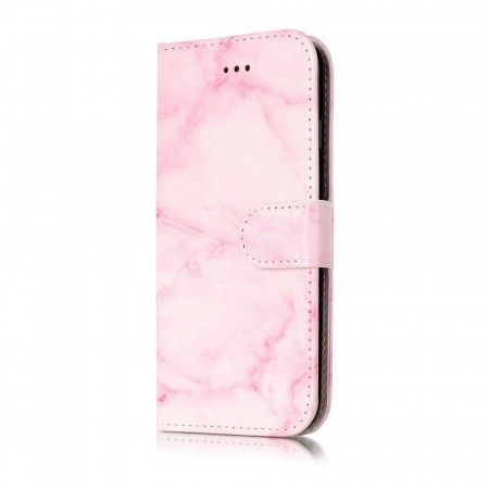 Lommebok deksel for iPhone 7/8/SE (2020) rosa marmor