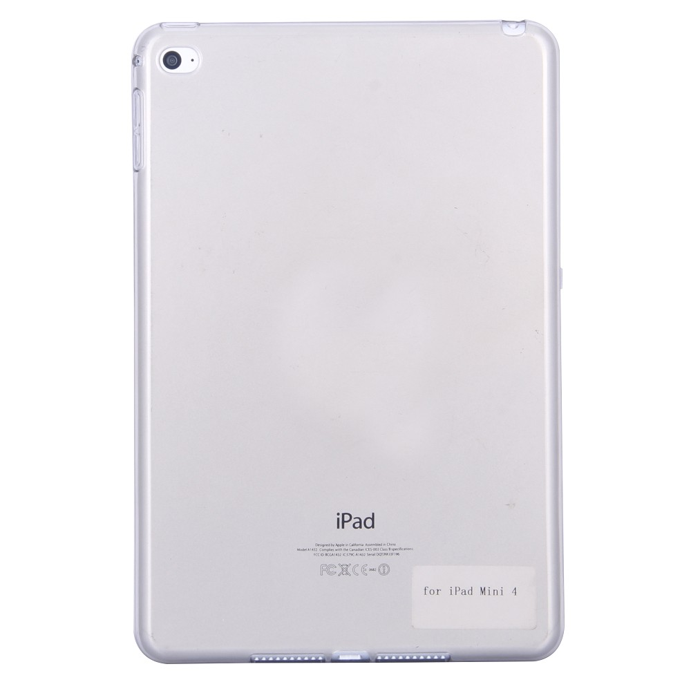 TPU Deksel for iPad Mini 4 svart gjennomsiktig